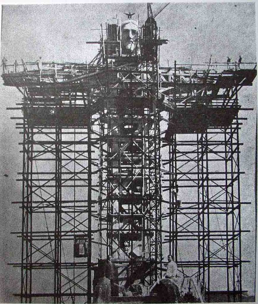 Construction of Christ the Redeemer at Rio De Janeiro, Brazil, 1930