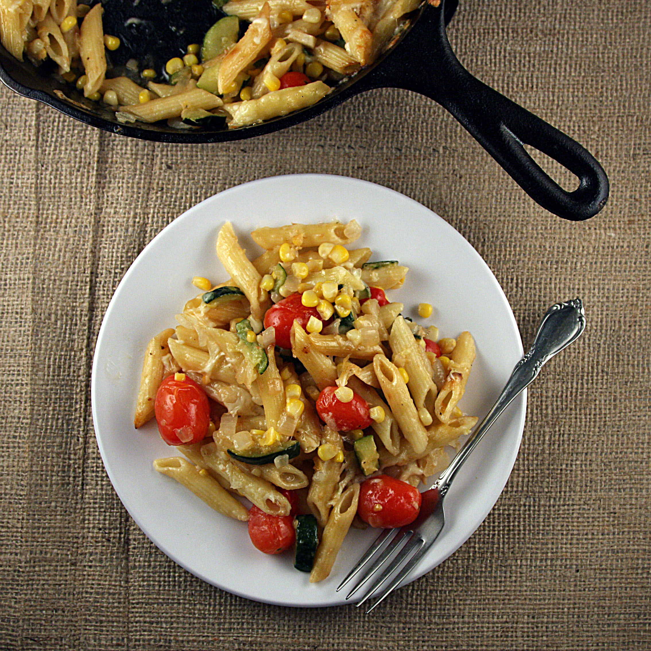 Fresh Vegetable Pasta Skillet
