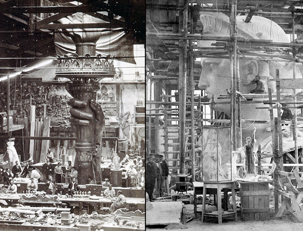 Statue of Liberty,Paris in 1884 (under construction)