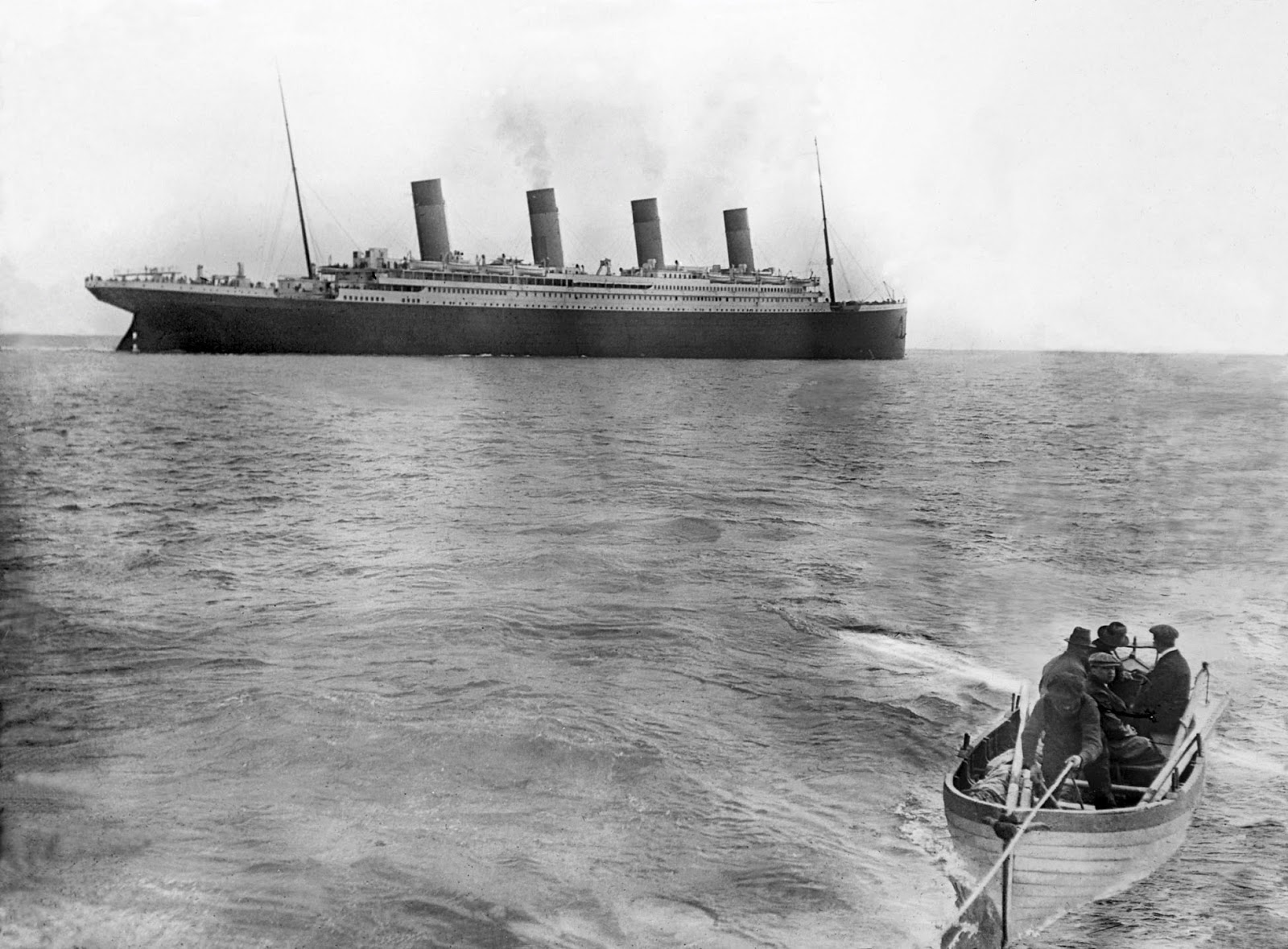 The last picture of the Titanic, 1912