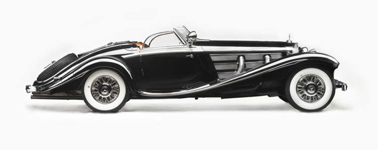 1936 Mercedes-Benz 540K Special Roadster - Side View