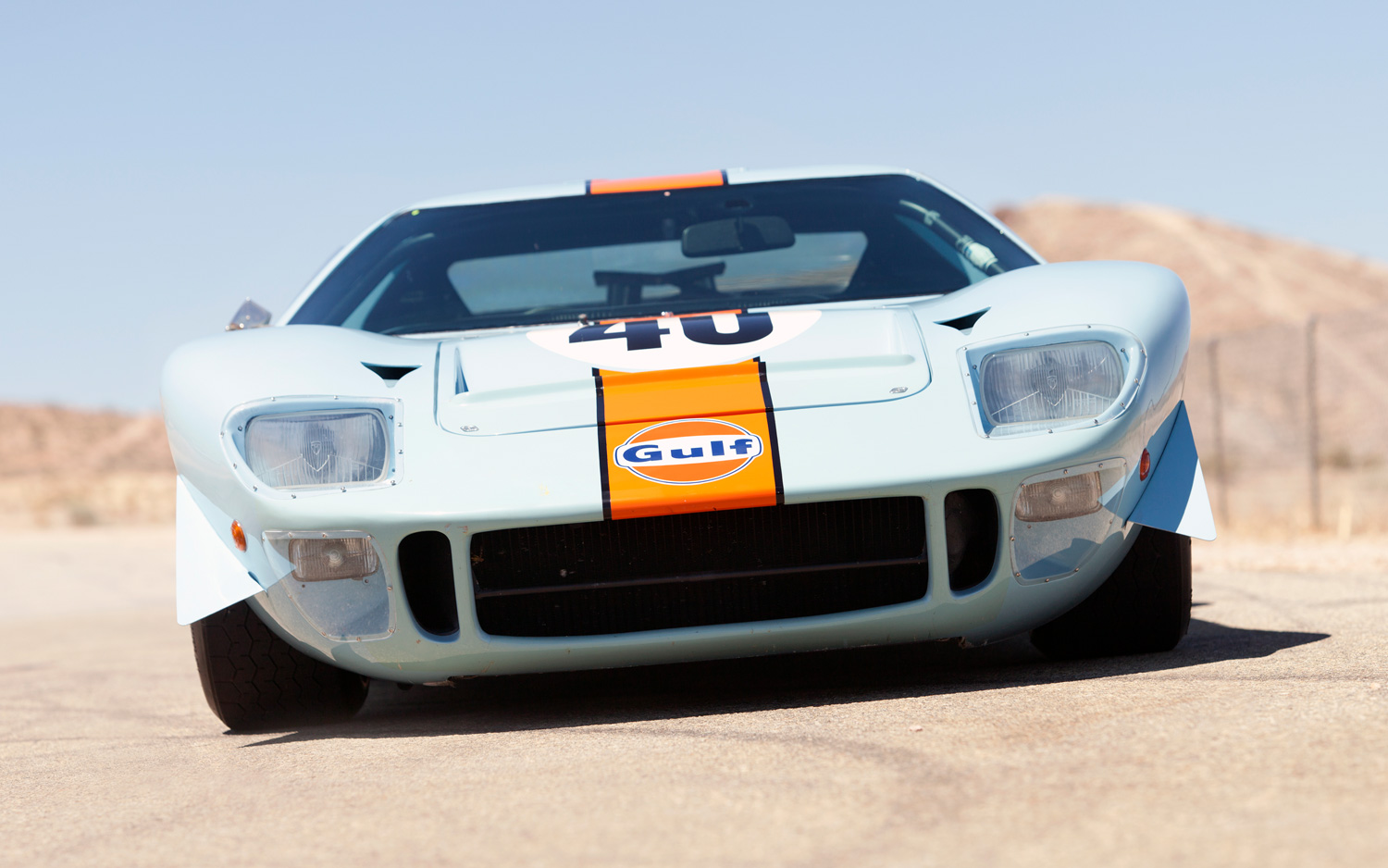 1968 Ford GT40 Gulf Mirage Coupe - Front View
