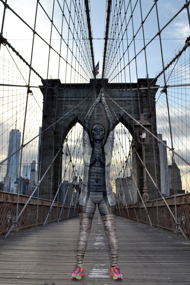 Brooklyn Bridge bodypaint
