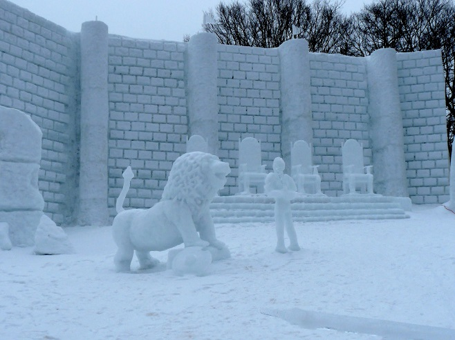 Chronicles of Narnia in snow