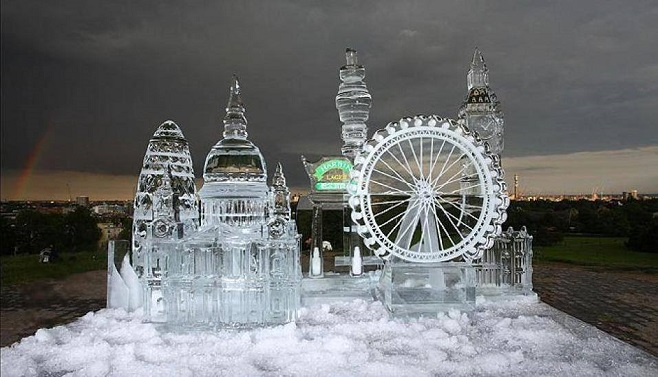 London carved in ice