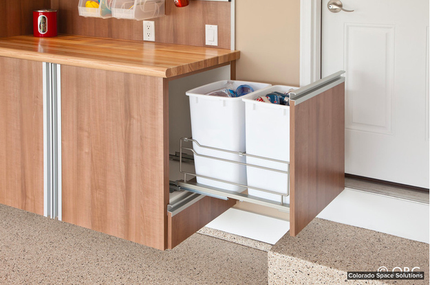 Add a rolling recycling bin in your kitchen