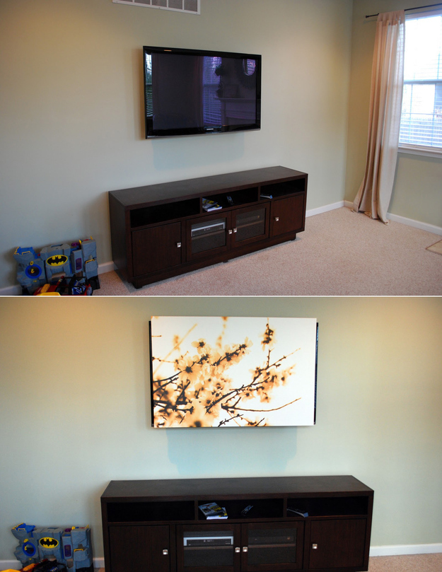 Canvas to hide your TV