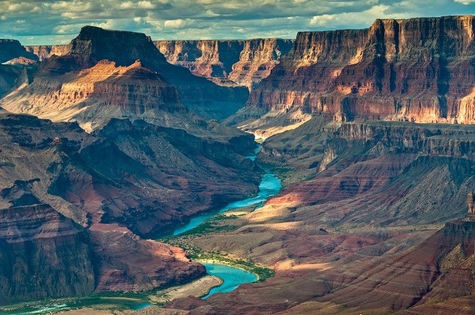 Seen from the Tanner Trail in Grand Canyon National Park, Arizona