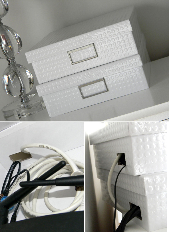 Hide your router in a fancy storage box