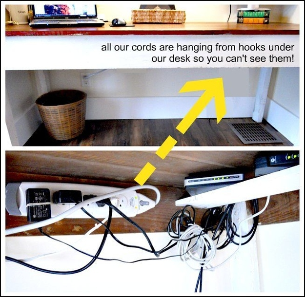 Hook your desk wires
