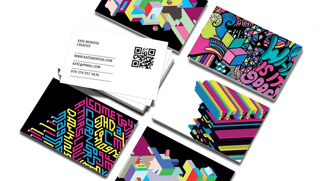 Moo double sided business cards