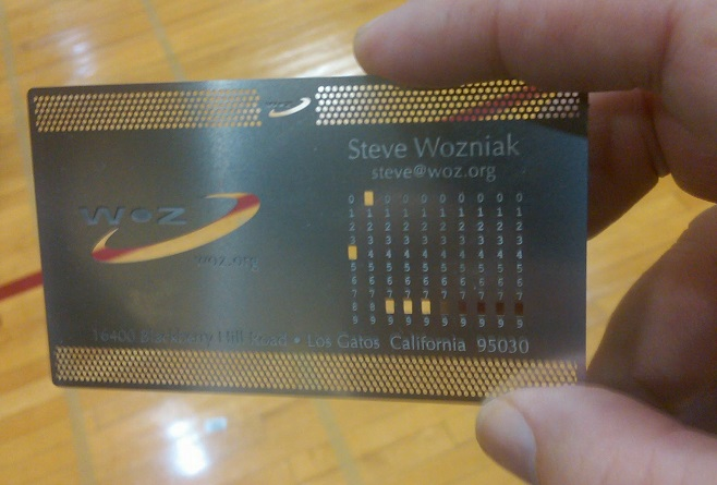 Steve Wozniak Business card