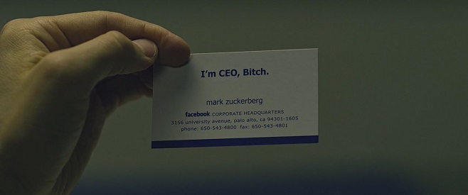 Zuckerberg's business card