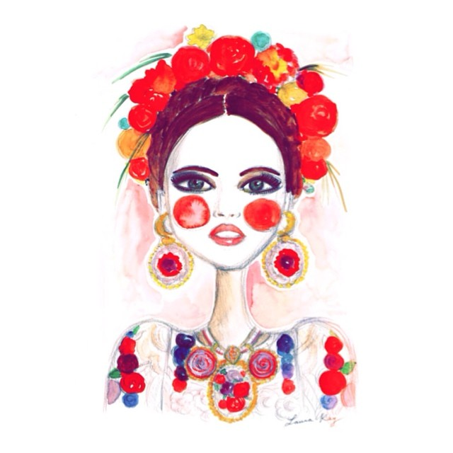 Frida Kahlo by Laura Kay