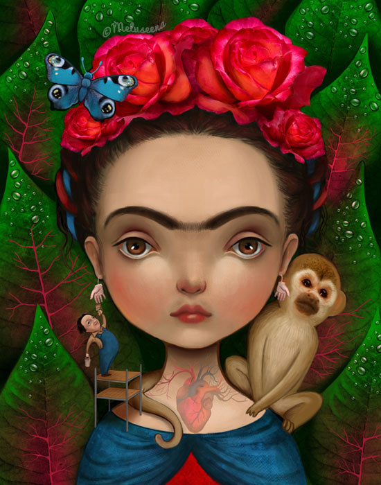 Frida Kahlo by Lisa Falzon