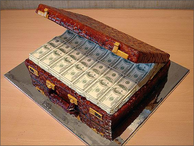Dollar Cake Images : Dollar Chest Cake Lazy Penguins