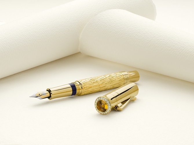 Faber-Castell Pen Made of Diamonds and Gold