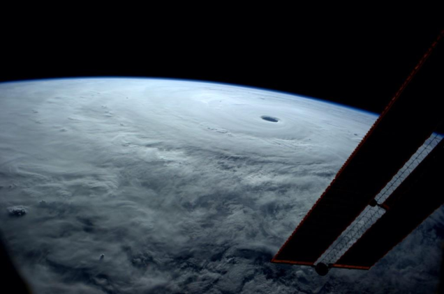 Typhoon Vongfong from space