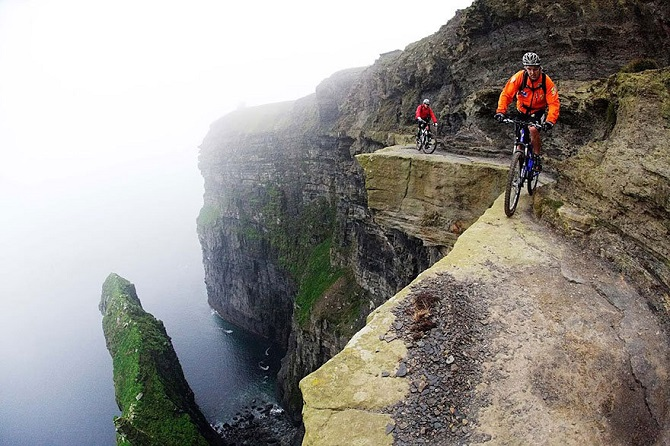 Biking on the edge