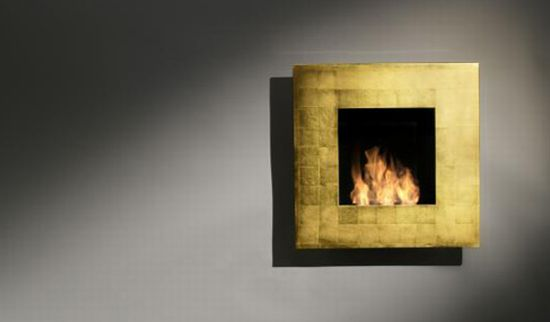Quadro Gold Fireplace