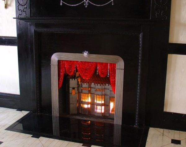 Swarovski Crystal Fireplace