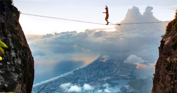 Tightroping above the city