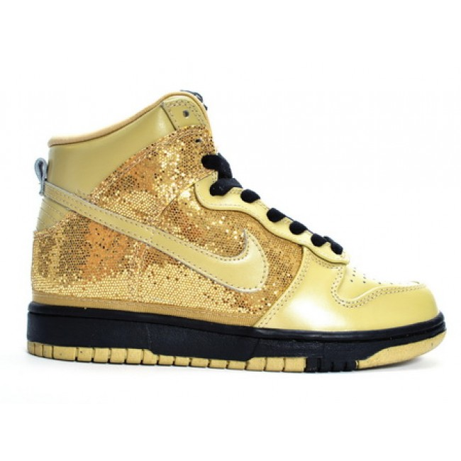 Nike gold high dunks