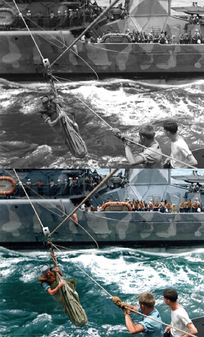 Rescue at sea, 1942