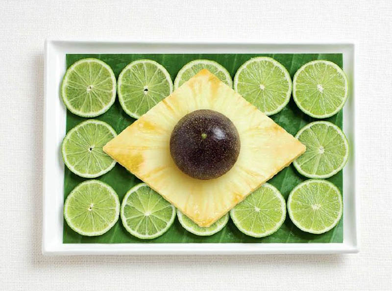 Brazil - Banana leaf limes pineapple and passion fruit