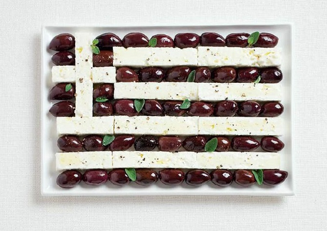 Greece - Olives and feta cheese