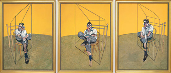 Three studies of Lucian Freud - Francis Bacon