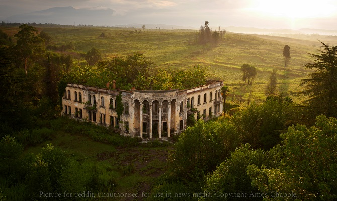 A ruined college in Gali, inside the breakaway republic of Abkhazia