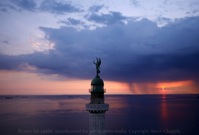 The Vittoria Light, overlooking the Gulf of Trieste