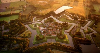 The star fort at Bourtange, Holland
