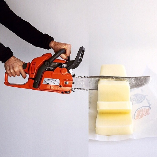 chainsaw + butter