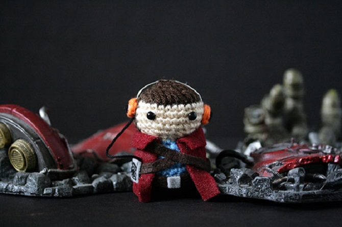 Crocheted Superhero Critters At SDCC