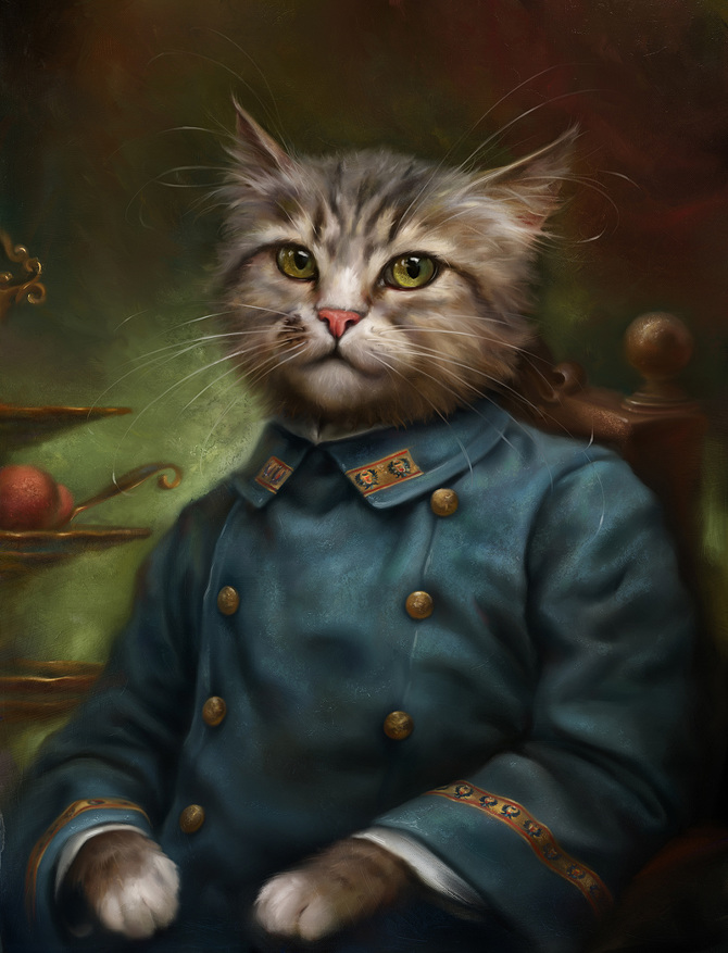 The Hermitage Court Confectioner Apprentice Cat
