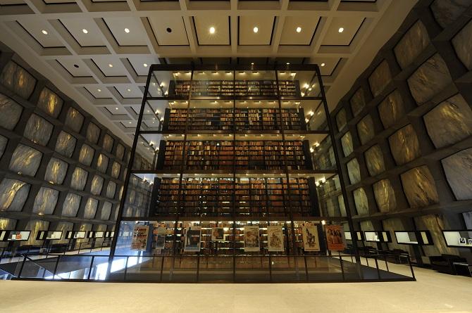Beinecke Interior Book Tower