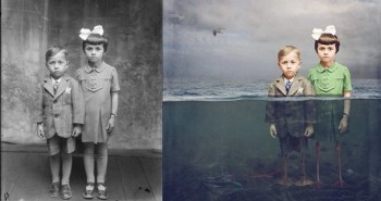Vintage Photos Into Surreal Works Of Art