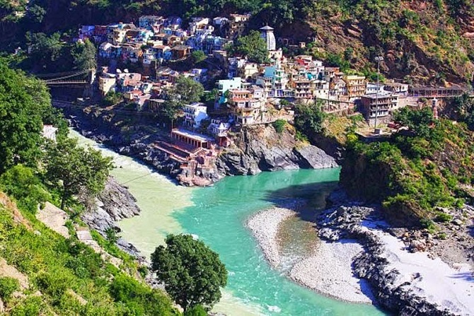 Alaknanda and Bhagirathi Rivers at Devprayag