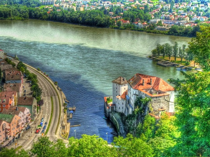Ilz River and the Danube River