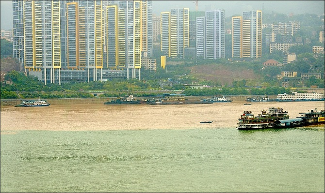 Jialing and Yangtze Rivers in Chongqing