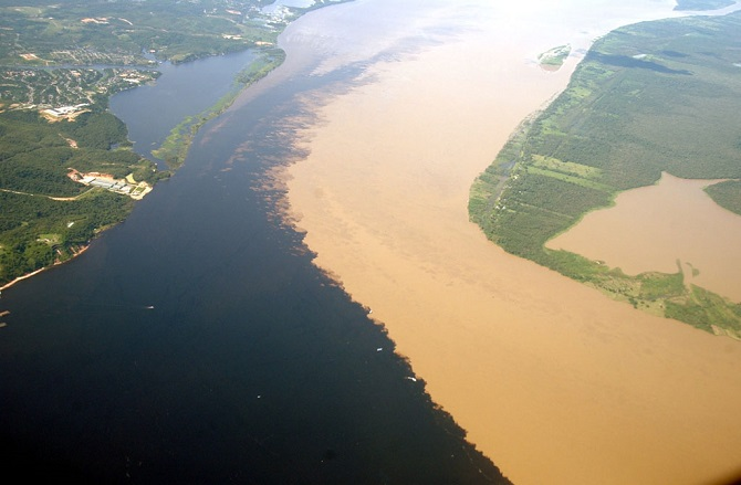 Rio Negro and the Rio Solimoes