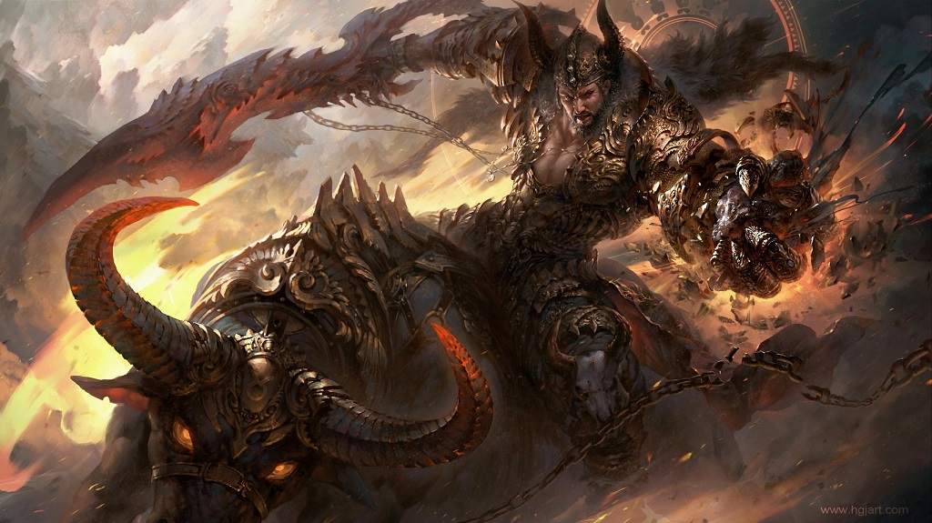 Epic fantasy illustrations of the zodiac signs by guangjian huang