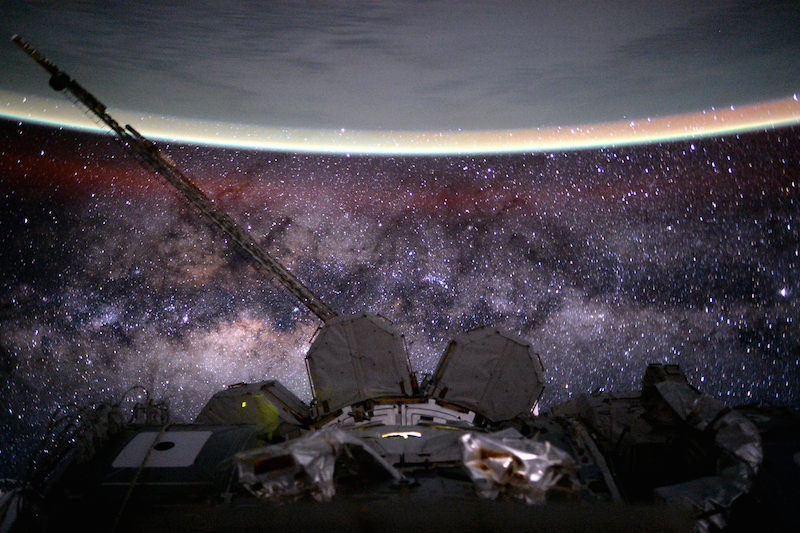 The Milky Way in all its dusty, gassy warped beauty.