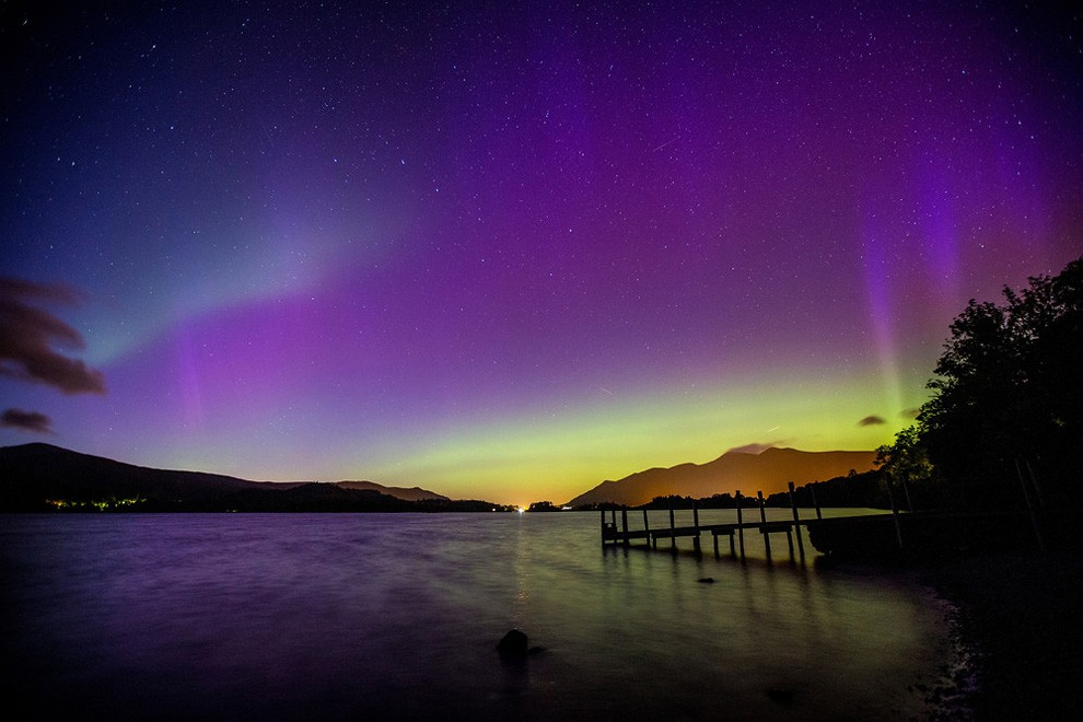 Northern Lights which was seen across most of the UK