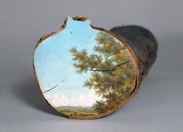 Art- post your favorite here  - Page 24 Paintings-on-Fallen-Tree-Logs-15