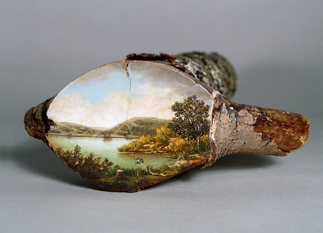 Art- post your favorite here  - Page 24 Paintings-on-Fallen-Tree-Logs-4