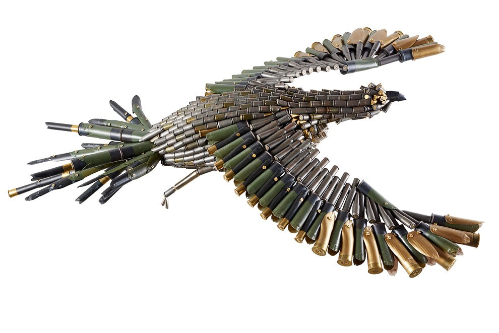 Unique Sculptures and Landscapes from Bullet Shells and Cartridges