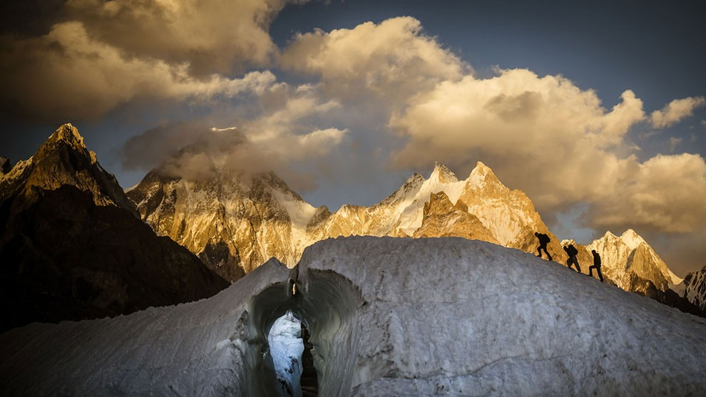 A view of the Gasherbrum IV massif.A view of the Gasherbrum IV massif.